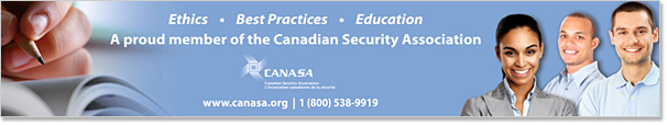 A proud member of the Canadian Security Association
